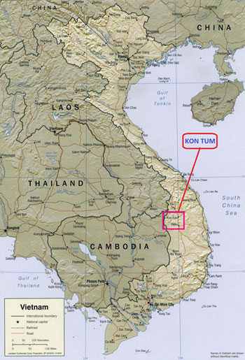 Kon Tum Vietnam  City new picture : Vietnam Kon Tum map