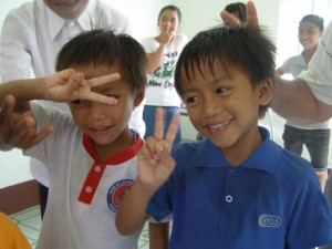 6 year old twins at Vinh Son 3 Orphanage 2014